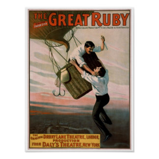 """""""The Great Ruby"""" Vintage Theater Poster"""