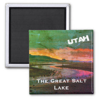 The Great Salt Lake, Northern Utah Landscape Magnet