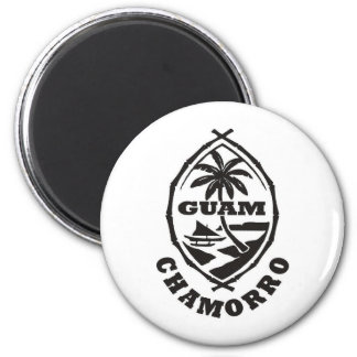 The great seal of Guam 2 Inch Round Magnet