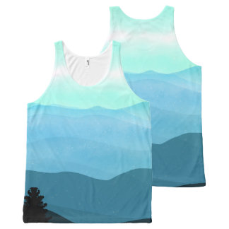 The Great Smoky Mountains Landscape All-Over-Print Tank Top