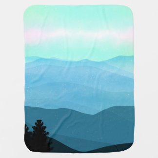 The Great Smoky Mountains Landscape Baby Blanket