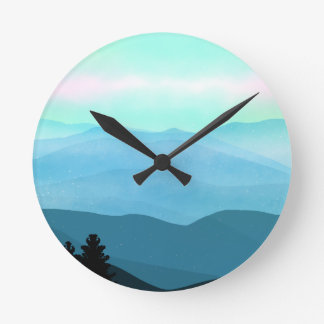 The Great Smoky Mountains Landscape Round Clock