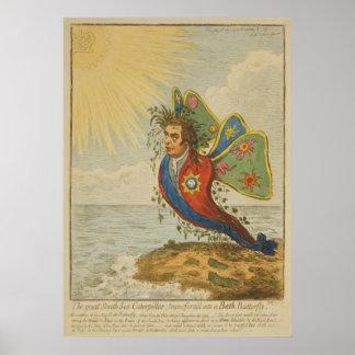 The Great South Sea Caterpillar, Transform'd Poster