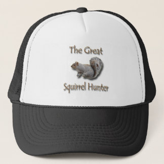 The Great Squirrel Hunter gray Trucker Hat