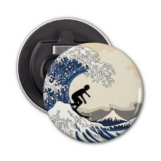 The Great Surfer of Kanagawa Bottle Opener