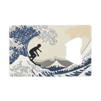The Great Surfer of Kanagawa Credit Card Bottle Opener