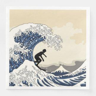 The Great Surfer of Kanagawa Disposable Napkins