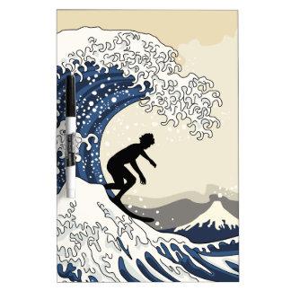 The Great Surfer of Kanagawa Dry-Erase Whiteboards