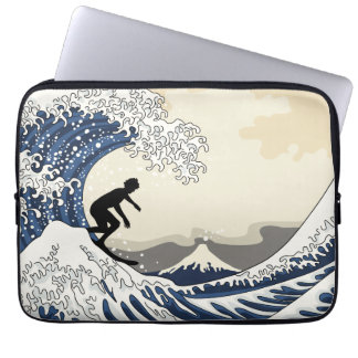 The Great Surfer of Kanagawa Laptop Sleeve