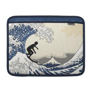 The Great Surfer of Kanagawa MacBook Sleeve