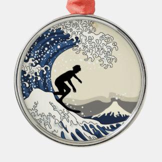The Great Surfer of Kanagawa Metal Ornament