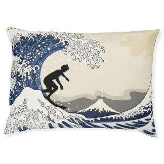 The Great Surfer of Kanagawa Pet Bed