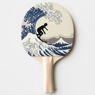 The Great Surfer of Kanagawa Ping Pong Paddle