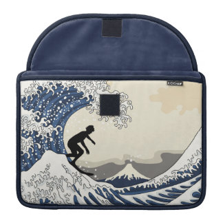 The Great Surfer of Kanagawa Sleeve For MacBooks