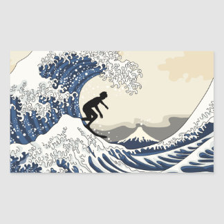 The Great Surfer of Kanagawa Sticker