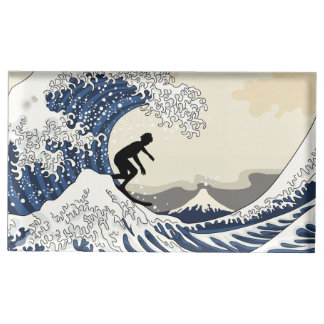The Great Surfer of Kanagawa Table Card Holder