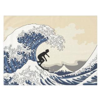 The Great Surfer of Kanagawa Tablecloth