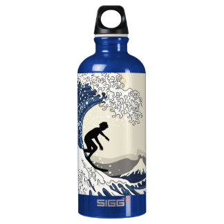 The Great Surfer of Kanagawa Water Bottle
