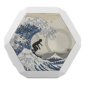 The Great Surfer of Kanagawa White Bluetooth Speaker