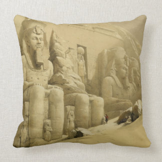 """The Great Temple of Abu Simbel, Nubia, from """"Egypt Throw Pillow"""