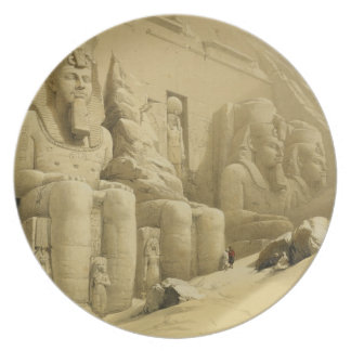 """The Great Temple of Abu Simbel, Nubia, from """"Egypt Plates"""