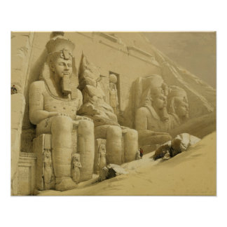 """The Great Temple of Abu Simbel, Nubia, from """"Egypt Poster"""