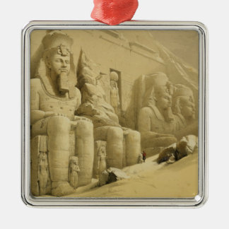"""The Great Temple of Abu Simbel, Nubia, from """"Egypt Silver-Colored Square Ornament"""