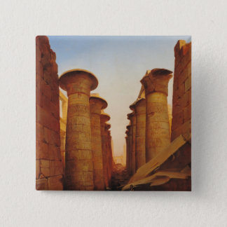 The Great Temple of Amun at Karnak 2 Inch Square Button