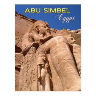 The Great Temple of Ramesses II at Abu Simbel Postcard