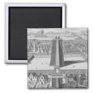 The Great Temple of Vitsliputsli in Mexico City, i Fridge Magnets