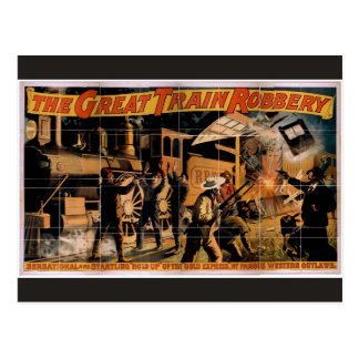 The Great Train Robbery Vintage Theatre Postcard
