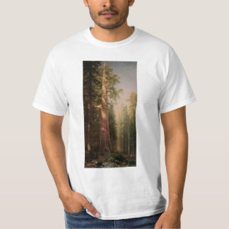 The Great Trees, Mariposa Grove, CA by Bierstadt Tshirt