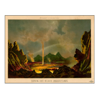 THE GREAT VOLCANO OF KILAUEA, November 16, 1866 Postcard