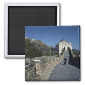 The Great Wall, Beijing, China Square Magnet