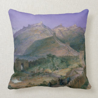 The Great Wall of China, 1886 (w/c) Pillows
