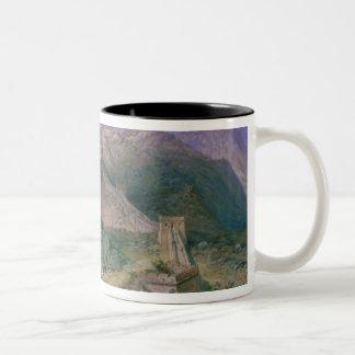The Great Wall of China, 1886 (w/c) Two-Tone Coffee Mug