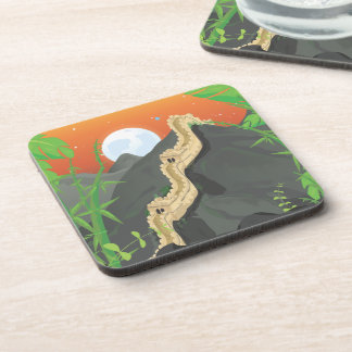 The Great Wall of China Beverage Coasters
