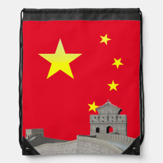 The Great wall of China Drawstring Bag