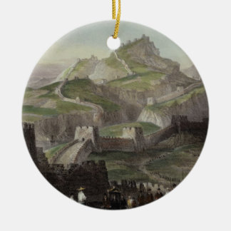 The Great Wall of China, from 'China in a Series o Round Ceramic Ornament