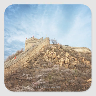 The great wall of China outside Beijing Square Sticker