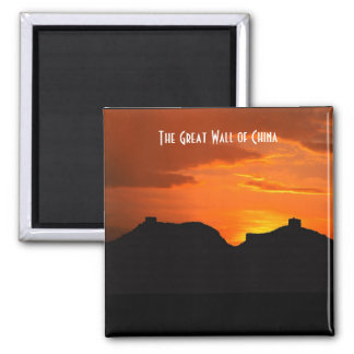 The Great Wall of China (sunset) Square Magnet