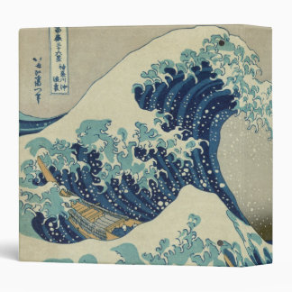 The Great Wave 3 Ring Binders