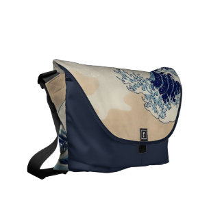 The great wave bag courier bag
