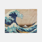The Great Wave by Hokusai Fleece Blanket