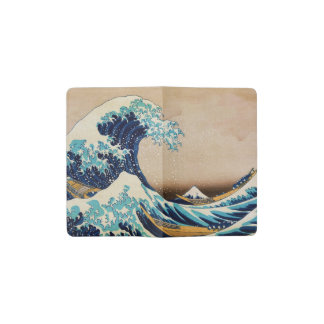 The Great Wave by Hokusai Vintage Japanese Pocket Moleskine Notebook