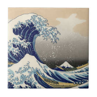 """The Great Wave"" copy of Hokusai's original c.1930 Tile"