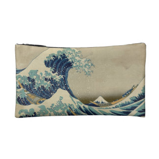 The Great Wave cosmetic bag