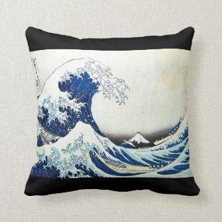 """The Great Wave"" Japanese Painting by Hokusai Throw Pillow"