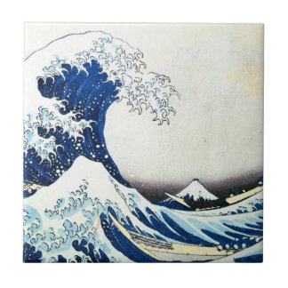 """""""The Great Wave"""" Japanese Painting by Hokusai Tile"""