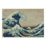 The Great Wave Katsushika 36 Views of Mount Fuji Poster